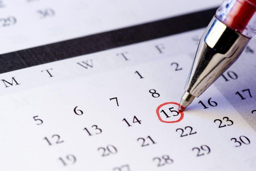 Setting A Date Calendar Bridgwater Taunton College
